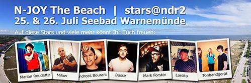 N-JOY THE BEACH und STARS@NDR2 mit Top-Acts in Warnemünde